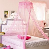 Wholesale New Bed Mosquito Netting White Elegant Mesh Canopy Princess Round Dome Bedding White