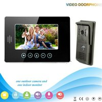 Wholesale V70T F V1 DHL Shipping Manufacturer Inch large screen Color LCD Monitor intercom building video door phone