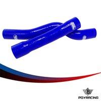Precio de Silicio w-PQY RACING-2PC de silicona del manguito del radiador, kit de la manguera del silicón W / logo de BMW E46 M3 330/328/325 6CY PQY-LX1102-BL