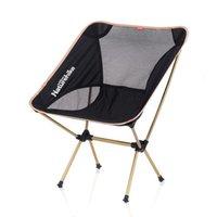 moon chair - NH Outdoor Folding Chair Portable Super Light Moon Chair Aviation Aluminum Alloy Fishing Stool Leisure Chair Bearing kg