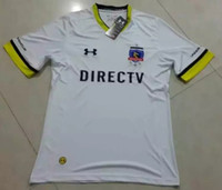 Wholesale 2017 Club Social y Deportivo Colo Colo soccer jersey T shirts colo colo soccer jersey football jersey embroided logo
