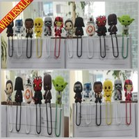 Wholesale Hot Sale Star Wars cartoon Bookmark Clip Memo Clip Paper Clips school stationery office supply