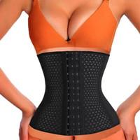 Cheap S-3XL Black Nude Bodysuit Women High Waist Trainer Slimming Shapewear Training Corsets Cincher Body Shaper Bustier Hollow Out Corset
