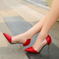 beige patent leather pumps - Elegant Socialite Apricot PVC Transparent High Heeled Shoes Brand cm Pointed Toe Shoes Women Pumps High Heels