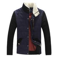 achat en gros de manteaux de jeunesse vente-Automne-Hiver Veste Pour Homme 2016 New Arrival stand Collar Vente Hot Zipper Casual Youth Plus Size 4XL Mens Manteau d'hiver MWM1290