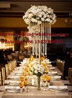 Wholesale 10PCS tiers acrylic wedding centerpiece cm tall cm diameter flower stand Chandelier centerpiece