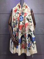 Wholesale Satin scarf fashion new flower elegant pashmina popular shawl wrap female girls size CM popular pattern printed