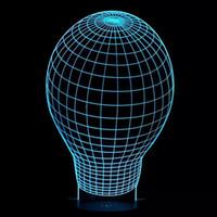 Heart No No 2016 Hot Special Offer Ballon 3D Optical Night Light 7 RGB Light 10 LEDs DC 5V AA Battery Gift