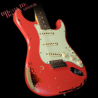 alder guitar - 10S Custom Shop Michael Landau Signature Fiesta Red over Tone Sunburst Electric Guitar