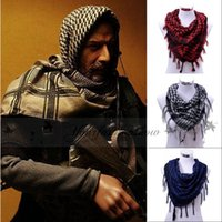arab scarf men - Fashion Multifunction Arab blanket Scarves Men Women Winter Wraps Military Windproof Plaid Scarf thin Muslim Hijab Z345