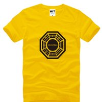 big initiative - New Summer Lost Dharma Initiative T Shirt Men Fashion New Short Sleeve O Neck Cotton Lost Male Tops Tees Mens Clothing Big Size S XL