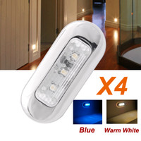 accent lamps - X V Stainless Waterprooof LED Courtesy Light Blue Warm white Deck Boat Garden Accent Lamp