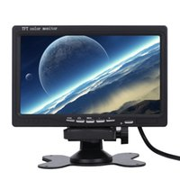 Wholesale Freeshipping inch Car TFT LCD Analog TV Stand Alone Monitor Digital Car Rear view Monitor Camera Car Headrest DVD Player