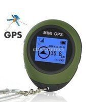 Wholesale Lots20 Portable Outdoor Handheld Mini GPS Receiver Tracker Navigator Location Finder Keychain