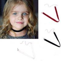 achat en gros de bébé gothique-Collier de collier de velours collier de ruban plaine pour enfant collier de serrage de bébé