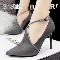 apricot heels - Wed shoes Sexy Stiletto High Heels Women Shoes Hollow Deep Mouth Pumps Dames Schoenen Suede Shoes Woman Scarpe Donna