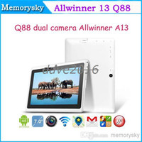Wholesale Q88 Allwinner A13 inch Tablet PC Capacitive Screen Android MB GB Keyboards Cases