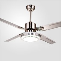Wholesale Remote Control Ceiling Fans With Lights Modern LED Fashion Lights Stainless Steel Wing Fan Lights For Decorative