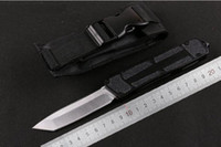 Wholesale 2016 NEW MICROTECH Scarab Tanto Single Single Full edge Aluminum knife Survival Gear Camping Tools Collection Gift Tools Knives