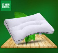 Wholesale Full adult buckwheat pillow pure buckwheat hull cervical health care send cotton pillowcases groove curve design health care neck