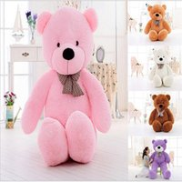 Wholesale 120CM Giant Teddy Bear Stuffed Plush Toys P Gifts for Kids Birthday Girlfriends Christmas Kids Toys Peluche