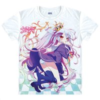 best blank t shirts - No Game No Life Blank Causal T Shirts Anime Manga Pretty Cool Awesome Novelty T shirts Best Anime Gift Cartoon
