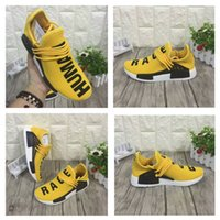 air human - High Quality Pharrell Williams NMD HUMAN RACE Shoes In Yellow