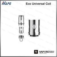 Cheap 100 Original Vaporesso Ceramic EUC Coils Heads UC Clapton Coil 0.4ohm 0.5ohm Eco Universal Coils ForEstoc Mega Target Pro ORC Tank
