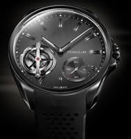 Wholesale New Top Brand Mechanical Men s watch Luxury Calibre rs Rubber Band Original Clasp Transparent pendulum Men Watches wristwatch TA11