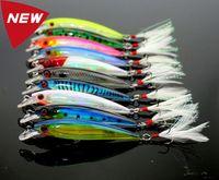 artificial feathers - 10 colors HOT Fishing Lure Wobbler Laser minnow Feather hook Plastic artificial hard lure Lifelike bait cm g MI094
