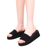 Wholesale Excellent Quality New pair Summer Shoes Fashion Women Sandals Beach Flat Wedge Flip Flops Lady Slippers