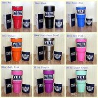 Wholesale New Color YETI Tumbler Rambler Cups Large Capacity Stainless Steel Tumbler Mugs ml In Stock