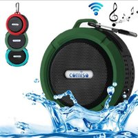 Cheap 2016 C6 IPX7 Outdoor Sports Portable Waterproof Wireless Bluetooth Speaker Suction Cup Handsfree MIC Voice Box For iPhone Samsung phone DHL
