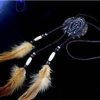 america native - New Vintage feather Pendant Necklaces Mix Models Native America Necklace
