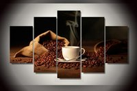 bag of coffee beans - Hot Sell Painting of bag coffee beans shoulder cup for Home Decorative Art Picture Paint on Canvas Prints oil painting