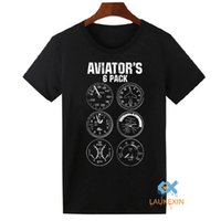 aviator shirt - Aviator Six Pack T Shirt Funny Pilot Travel Humor Vacation Flight Novelty Mens T Shirt Camiseta Homme Cool Tops Tee Shirts