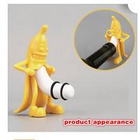 Wholesale Bottle Stopper Banana Shaped Man Opener Multifunction ABS Red Wine Soda Bottle Stopper Kitchen Bar Opener Tool Dhgate