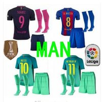 Wholesale Thai Quality Barcelona KIT MESSI jersey A INIESTA SUAREZ SERGIO PIQUE I RAKITIC