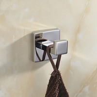 bedroom door mirror - Lowest Price Stainless Steel Square Mirror Polish Wall Door Bathroom Bedroom Clothes Coat Towel Robe Hook Hanger Rack Hook
