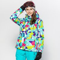 Wholesale 2016 Ski Jackets Brands Sport Winter Women Jacket Brand Ski Mountain Snow Clothing Snowboarding Jackets Waterproof Windproof