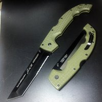Wholesale J J Cold steel Rawles Voyager CTS XHP black blade Tactical Folding Knife FRN Handle Survival Hunting Bowie Combat EDC Knifes