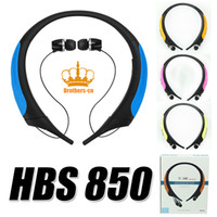 Wholesale Waterproof HBS HBS850 HBS Headphone Earphone Headset Earbuds Sports Stereo Bluetooth Wireless Neckbands For LG SamsungApple with box
