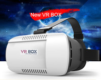 Android and IOS 3.5 Not Included VR BOX 1.0 Head Mounted Plastic VR BOX Version VR Virtual Reality Glasses Google Cardboard 3D Movie for Smart Phone High quality DHL Free
