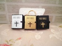 bible man - New Mini Bible Keychain English HOLY BIBLE Religious Christian Jesus Gold Black Colors