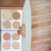 Wholesale 4Colors That GLOW KIT Gleam Brands Highlighters Makeup Face Powder Blusher Illuminators Bronzers Cosmetic Palette