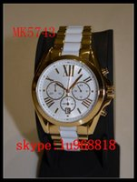 best fashion logos - TOP QUALITY BEST PRICE Drop Ship RUNWAY MIDSIZED GOLD TONE LOGO WATCH MK5743 MK5786 Original Box