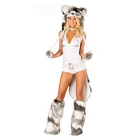 adult wolf costume - Halloween Adult Animal Cosplay Hood Fur Sexy Wolf Costume