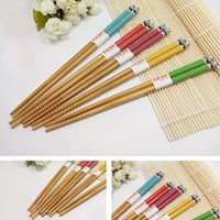 asian chopsticks - Asian Japanese Colorful Cute Panda Pattern Pairs Chopsticks set Chopstick Gift sets Pairs