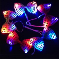 Wholesale Fun Bowknot Bow Tie Night LED Light Wedding Party Party Neck Tie Gift Birthday Party Stage Show