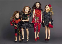 Wholesale 2016 autumn new arrival girl wave point high quality kid clothes girl cute dress size years old